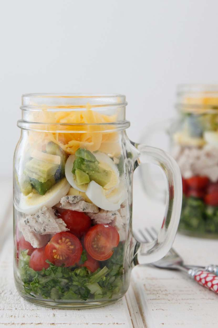 Cobb Salad in a Jar from weelicious.com