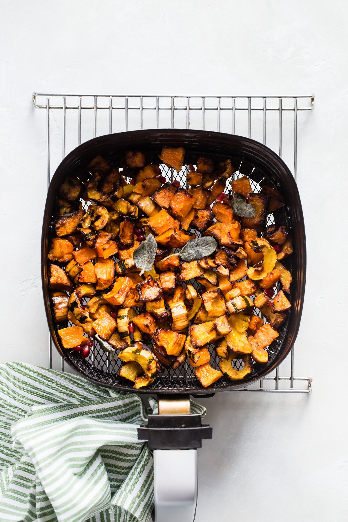 Air Fryer Maple Sage Squash recipe from Weelicious.com