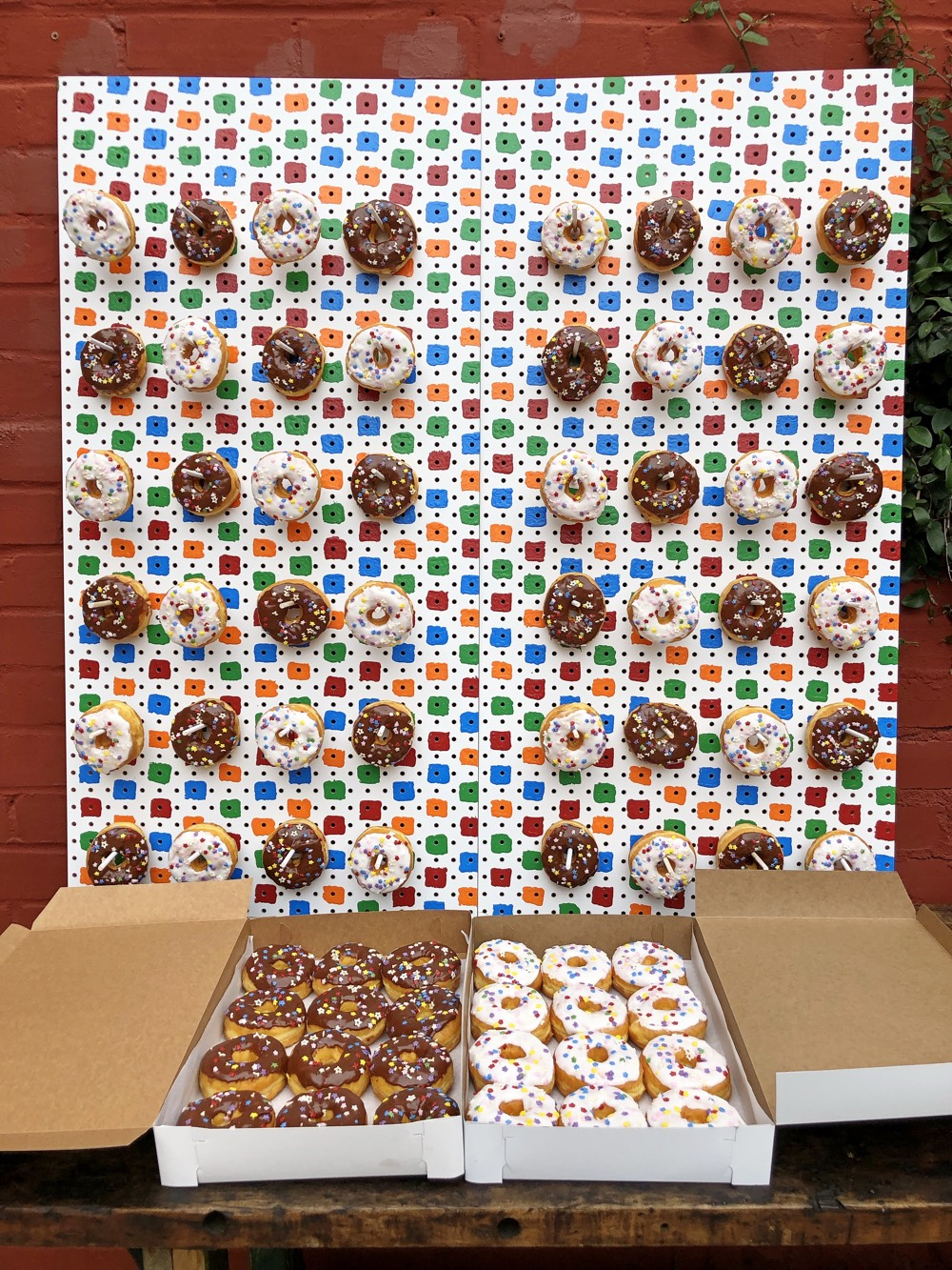 How to Build a Donut Wall from Weelicious.com