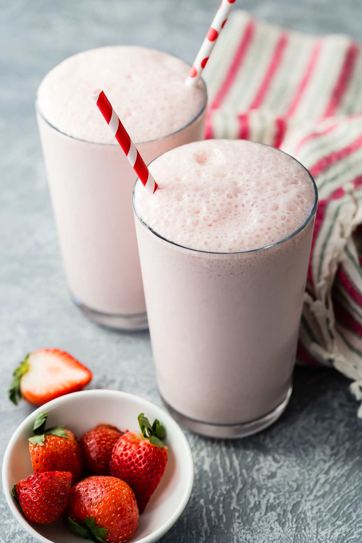 Strawberry Pink Milk recipe from Weelicious.com