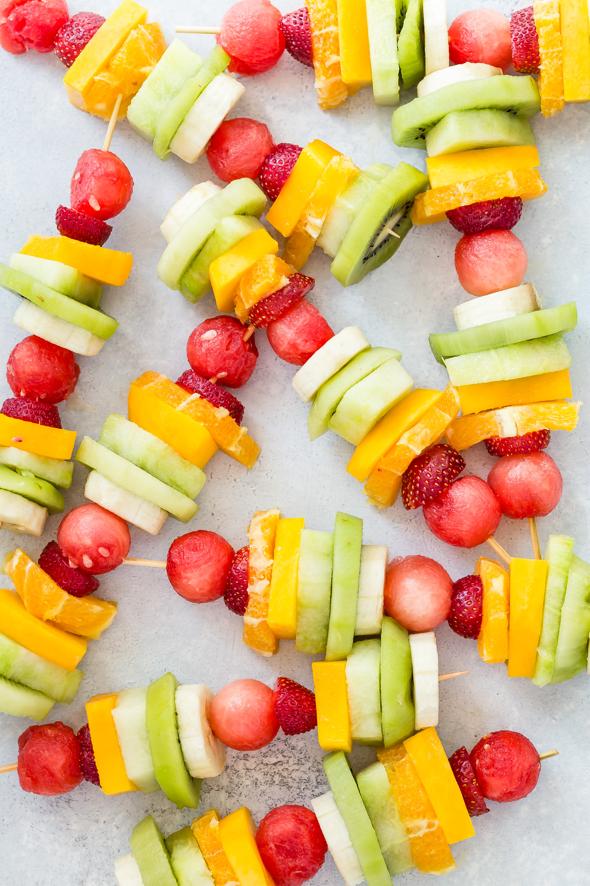 Rainbow Fruit Kabobs from Weelicious.com