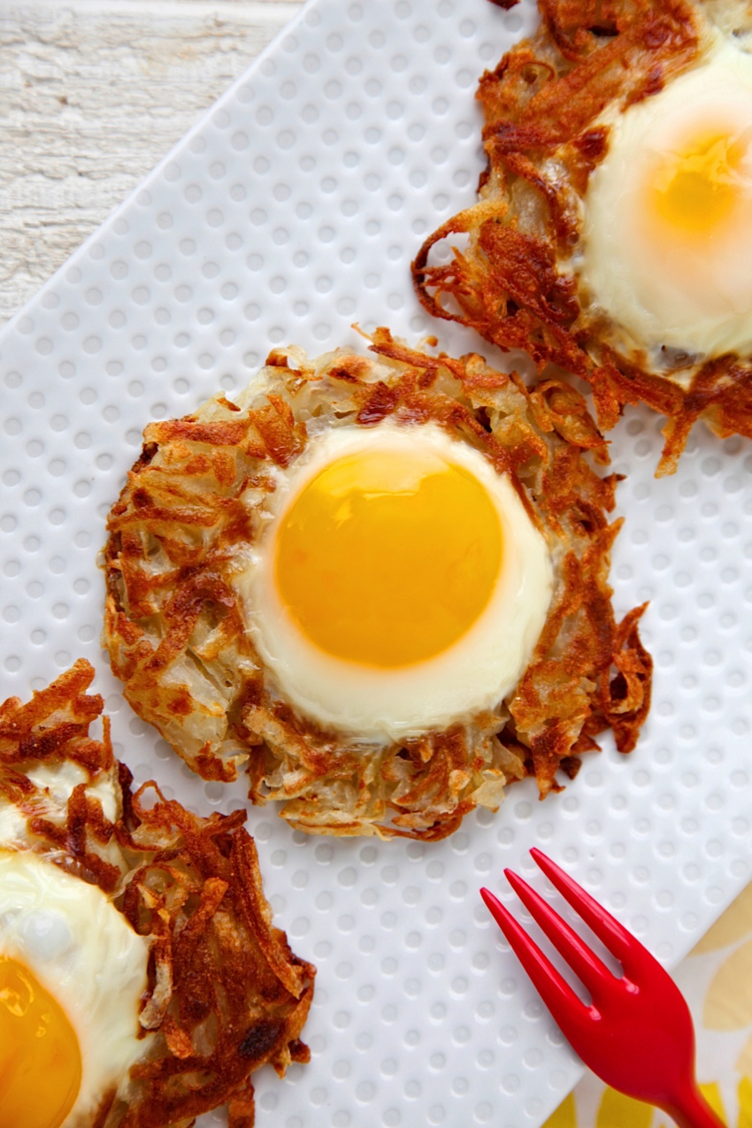Egg and Crispy Potato Nests from weelicious.com