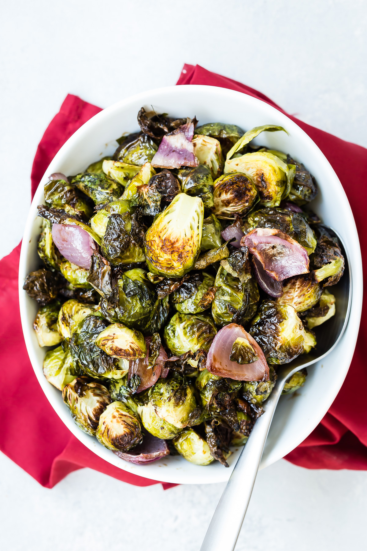 Roasted Balsamic Brussels Sprouts recipe from Weelicious.com