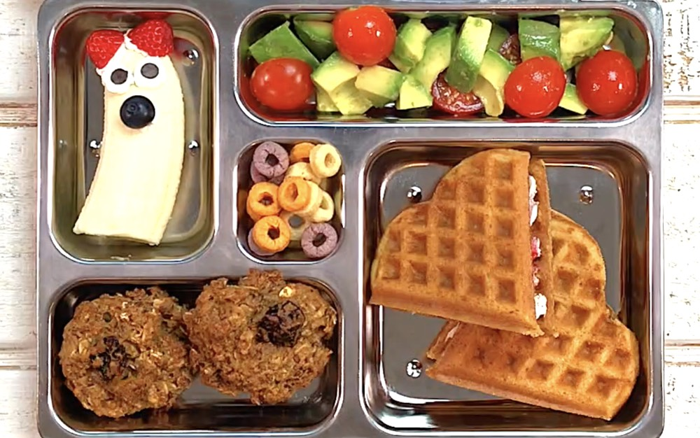 Waffle Hearts School Lunch from Weelicious.com