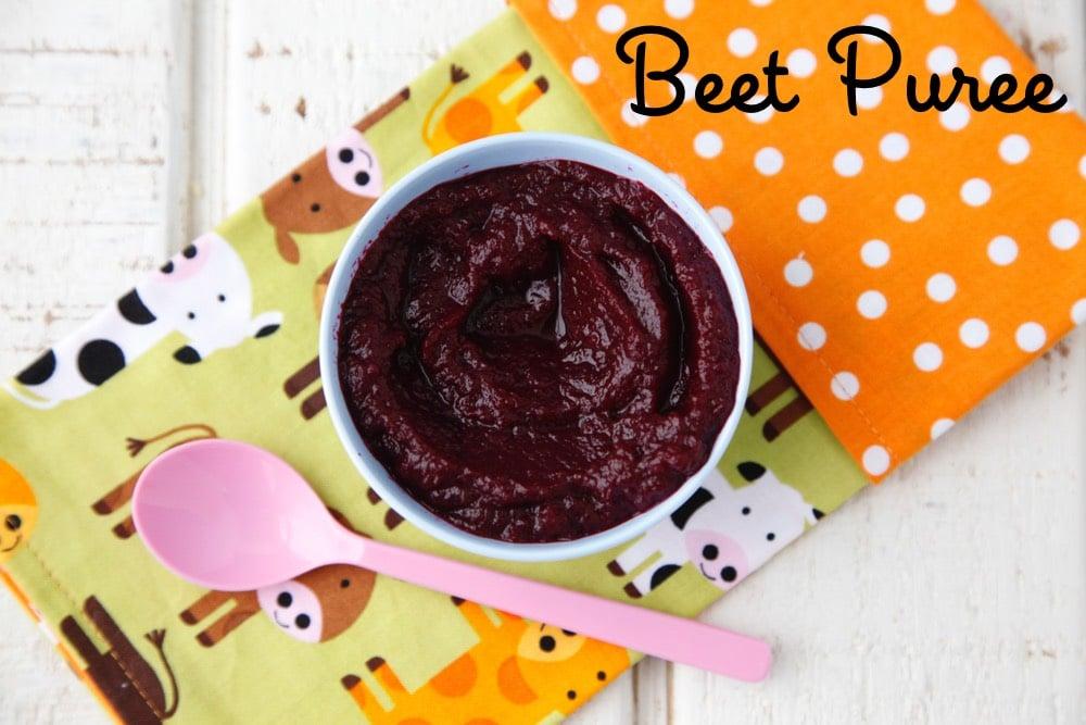 Beet Puree baby food from weelicious.com