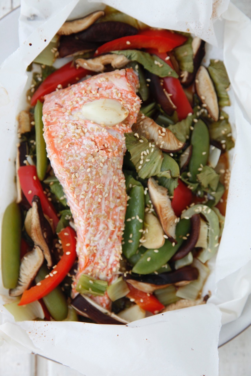 Fish in Parchment Paper from weelicious.com