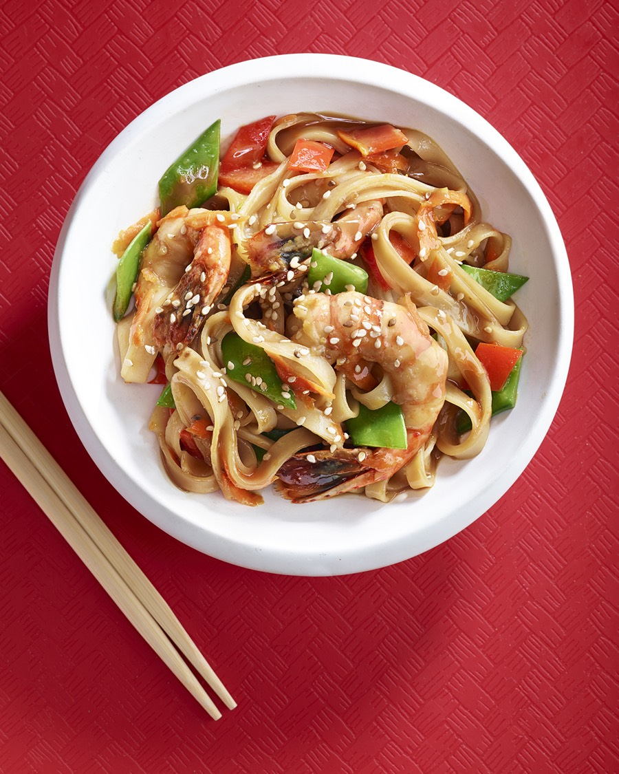 Shrimp And Rice Noodle Stir Fry Weelicious
