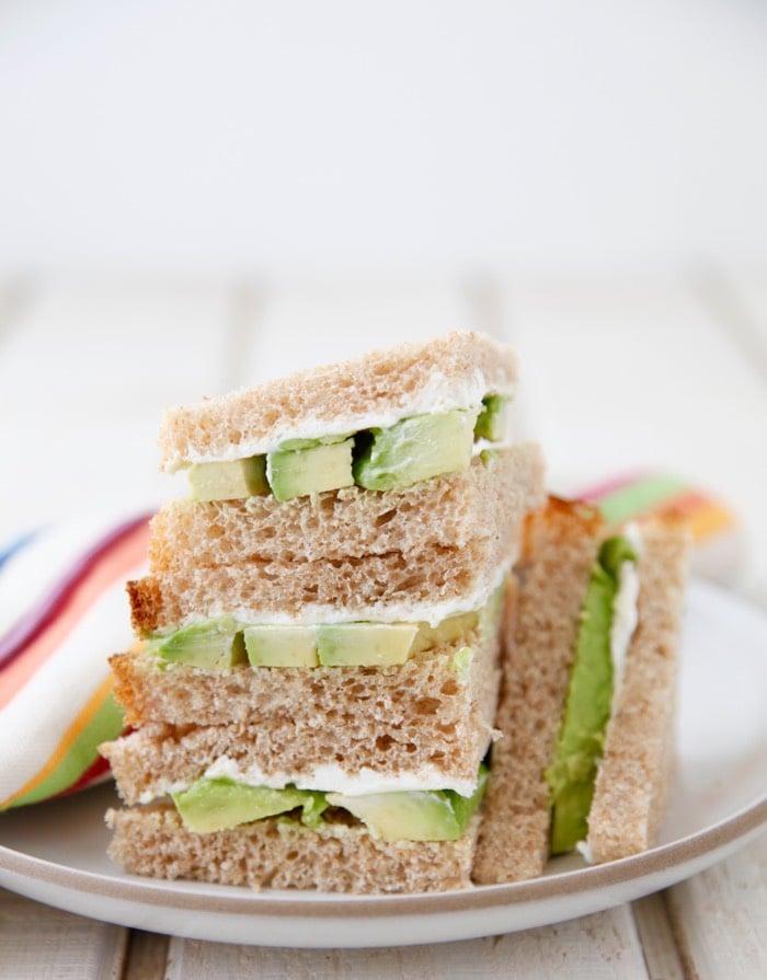 Avocado Cream Cheese Sandwiches from weelicious.com