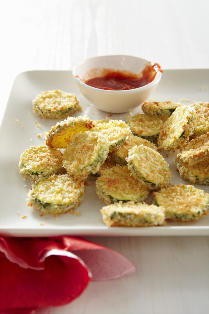 Baked Zucchini Coins from Weelicious