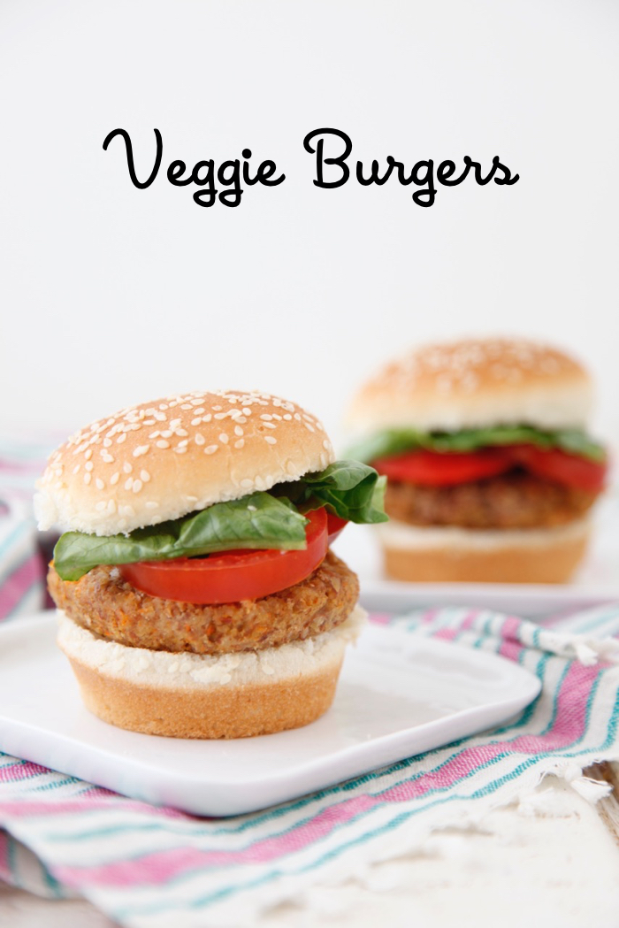 Veggie Burgers from weelicious.com