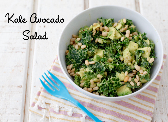 Kale Avocado Salad from weelicious.com