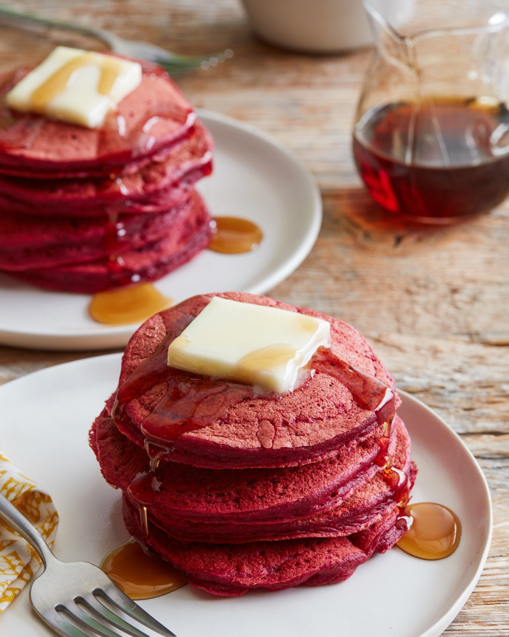 Red Beet Pancakes from weelicious.com