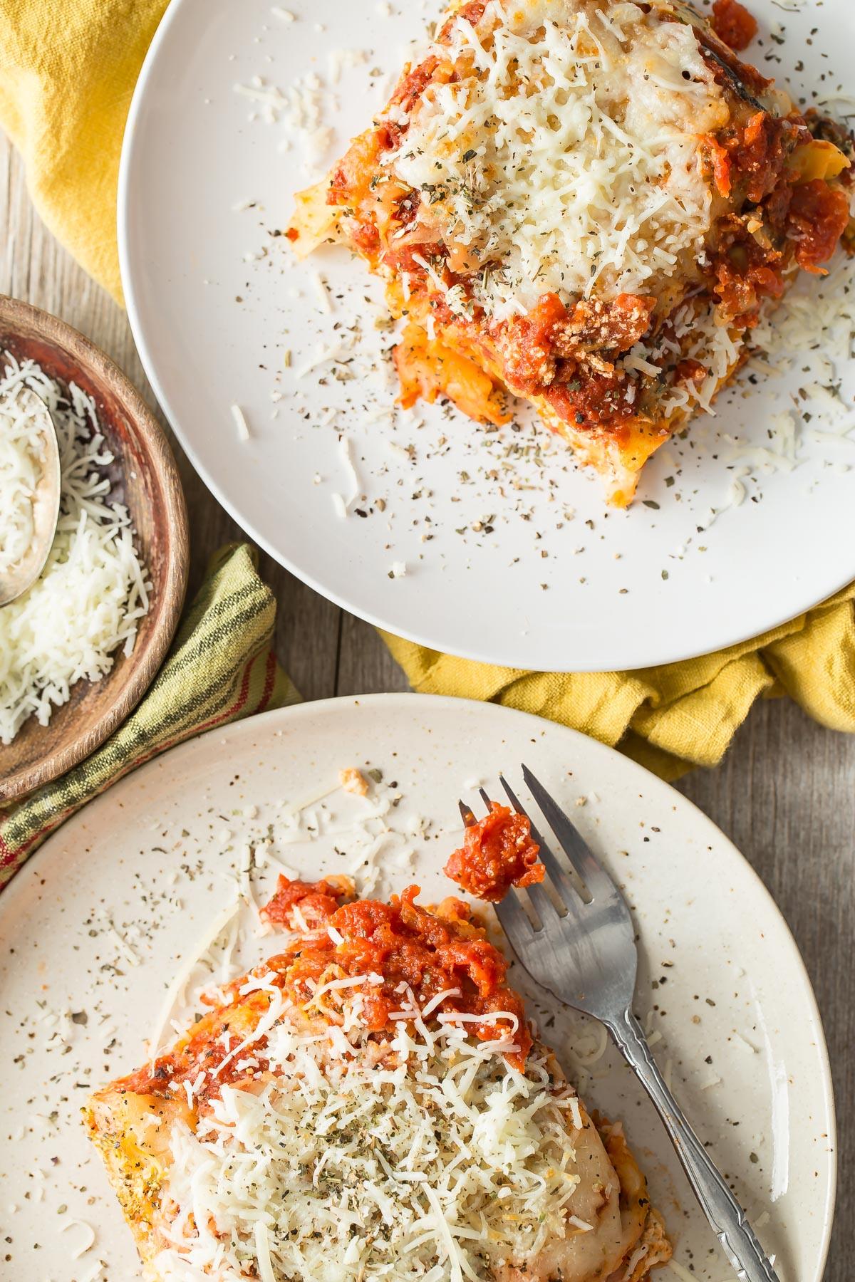 Crock Pot Veggie Lasagna from weelicious.com