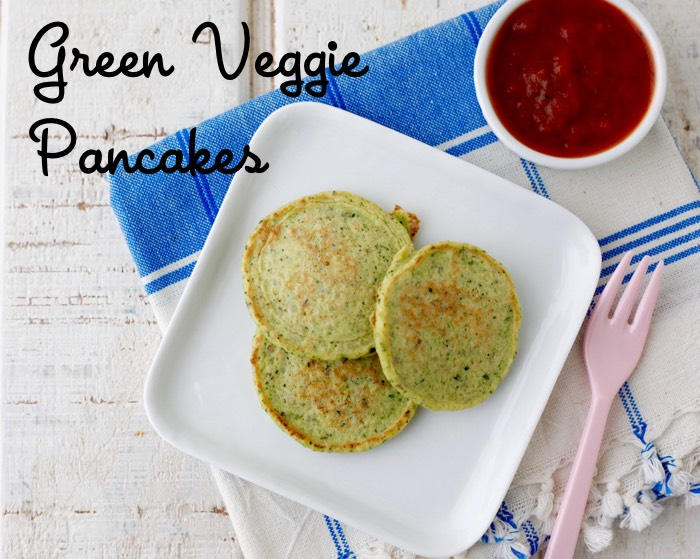Green Veggie Pancakes recipe from weelicious.com