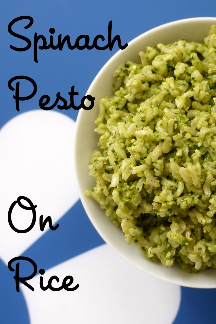 Spinach Pesto on Rice from Weelicious