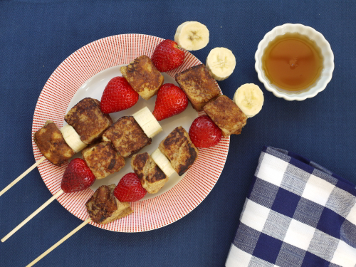 French Toast on a Stick from Weelicious