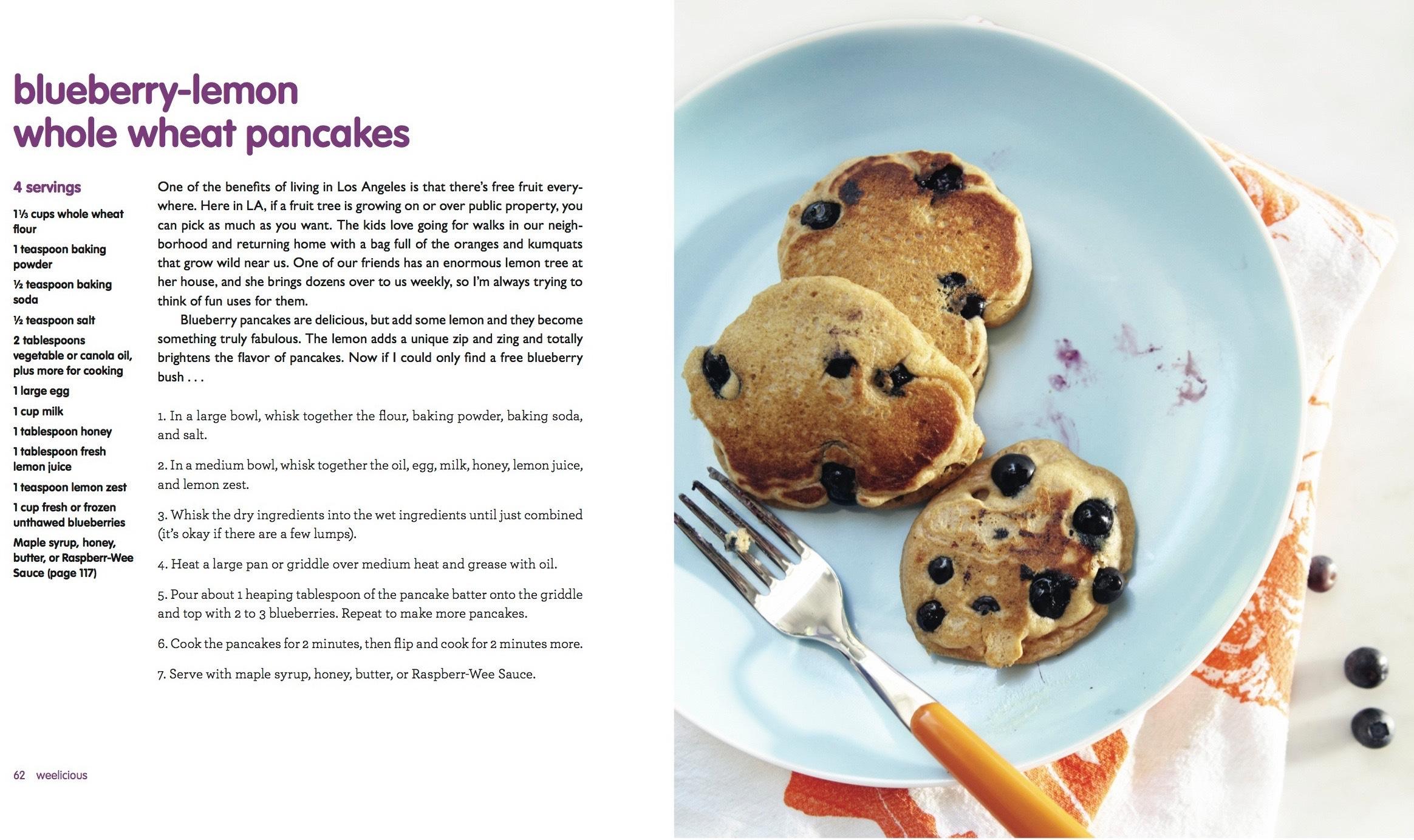 Blueberry Lemon Pancakes from Weelicious
