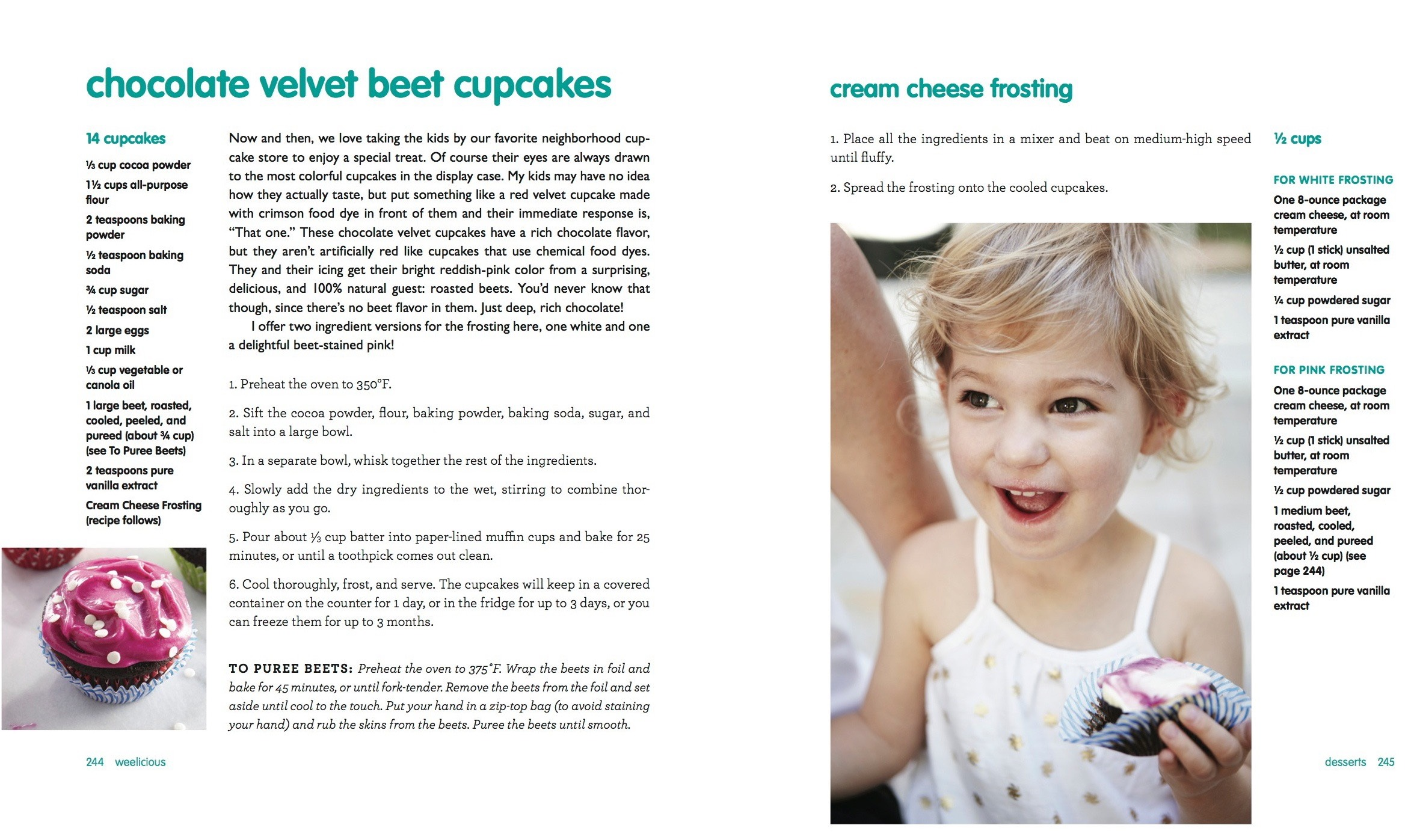 Chocolate Velvet Beet Cupcakes from Weelicious