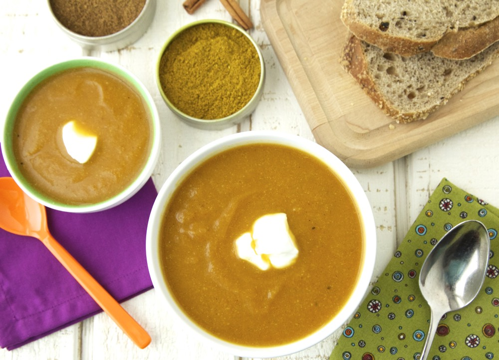 Spiced carrot cauliflower soup weelicious spiced carrot cauliflower soup forumfinder