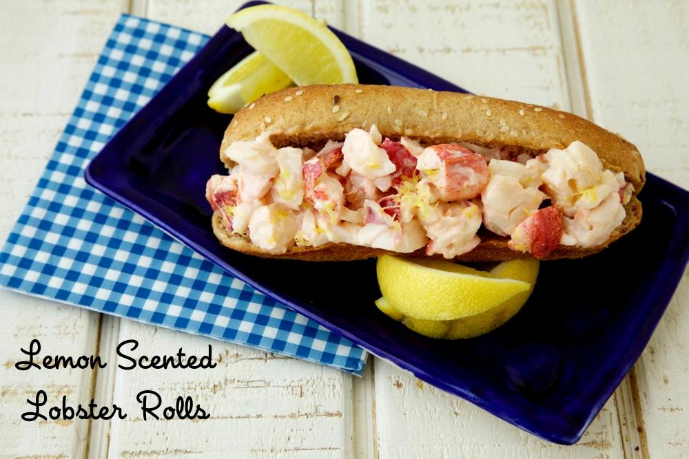 lemon scented lobster rolls