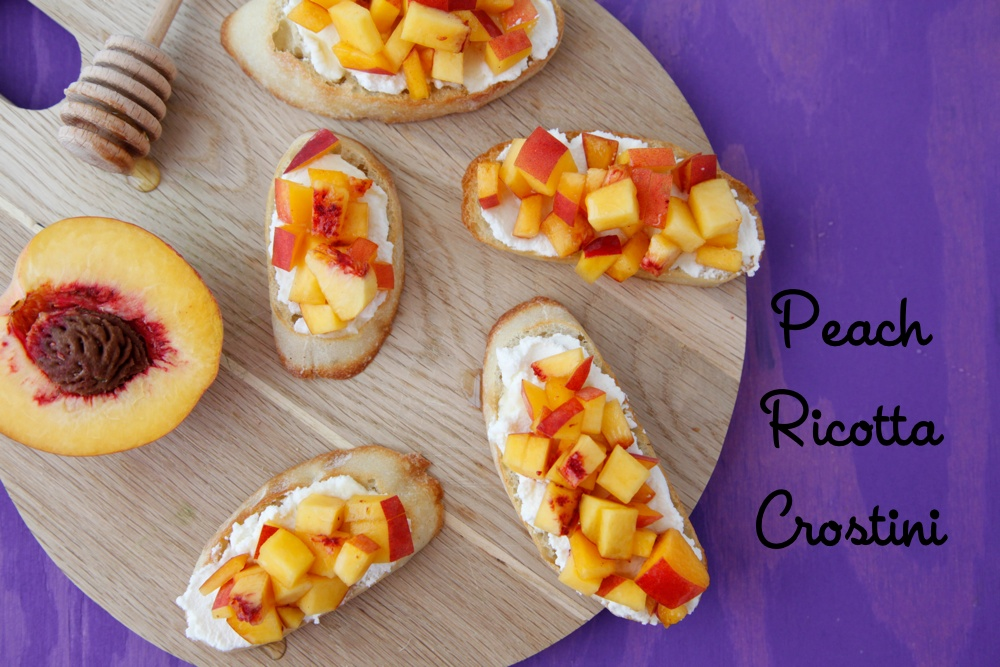 Peach Ricotta Crostini from Weelicious