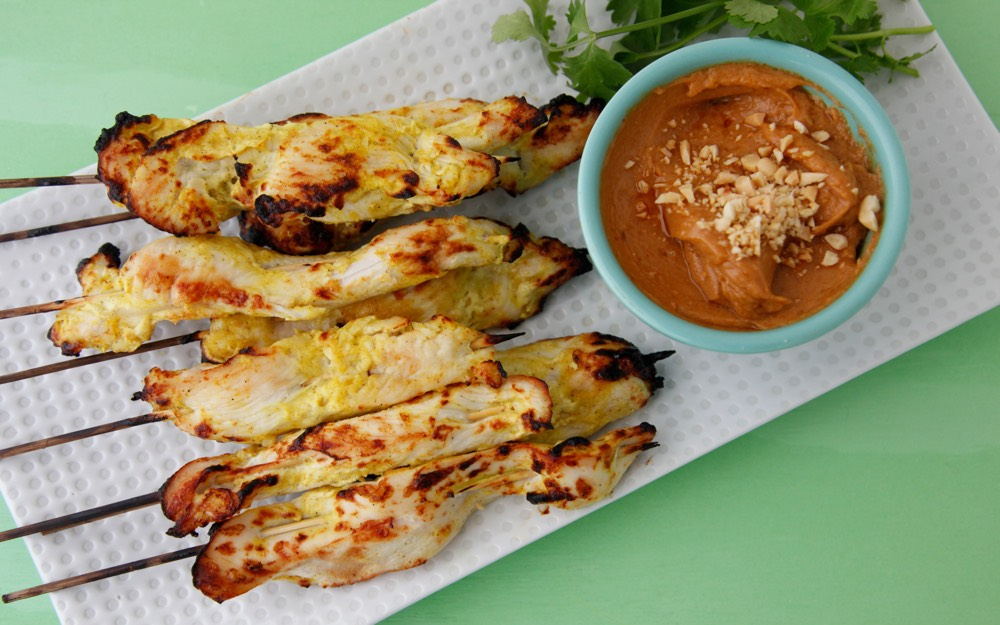 Chicken Satay with Spicy Peanut Sauce 2