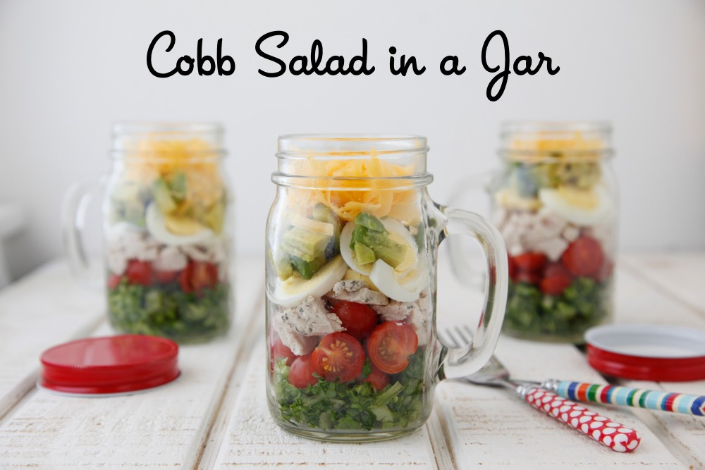 Cobb Salad in a Jar