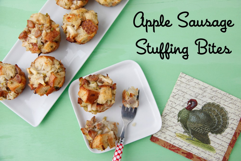 Apple Sausage Stuffing Bites
