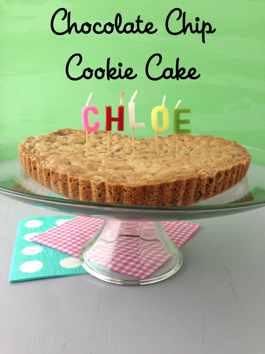 Chocolate Chip Cookie Cake Video from Weelicious