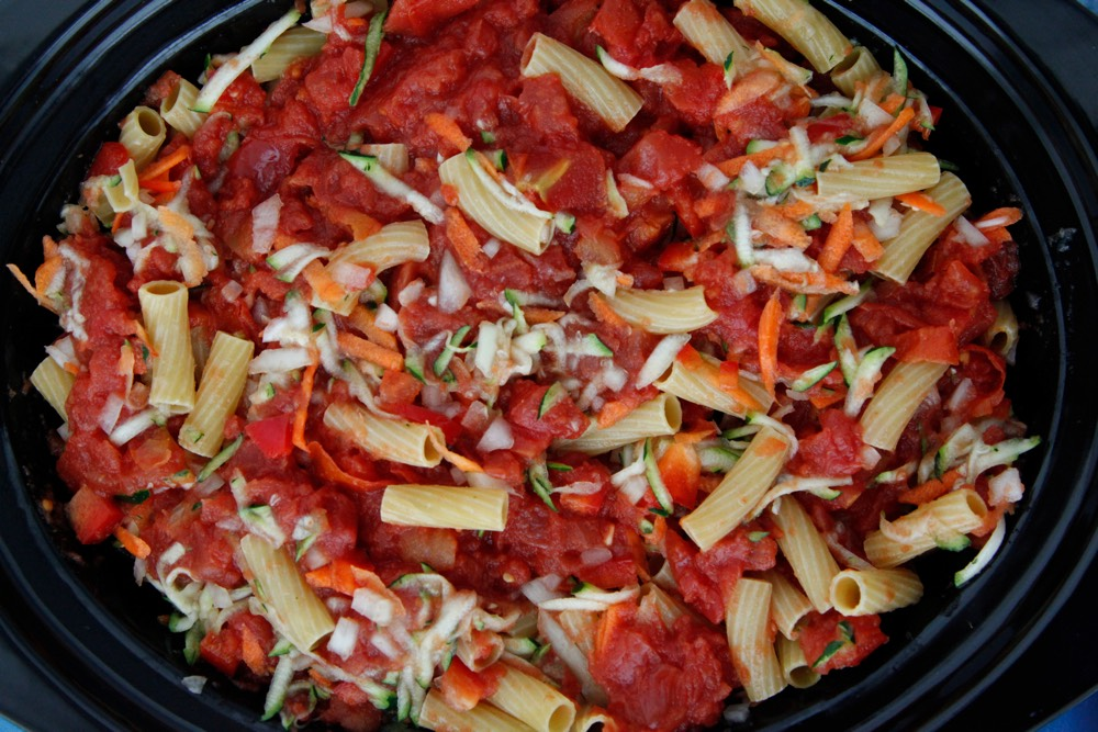 Crock Pot Vegetable Ziti 4