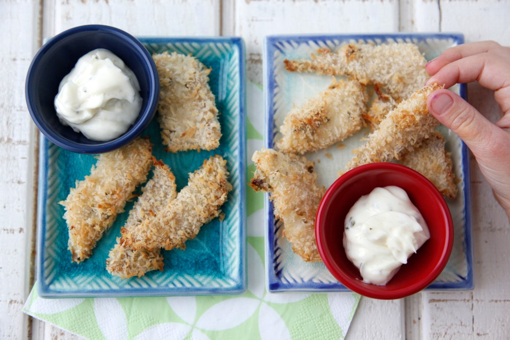 Crispy Fish Fingers from Weelicious