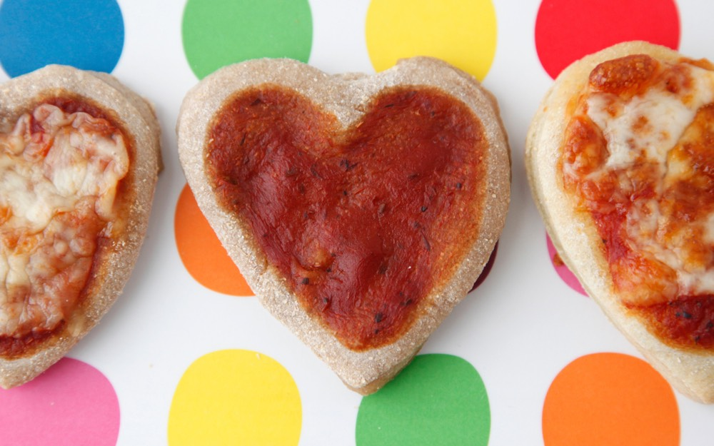 Heart Pizzettes from Weelicious