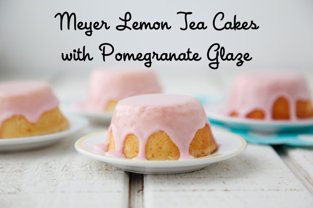 Meyer Lemon Tea Cakes with Pomegranate Glaze from Weelicious