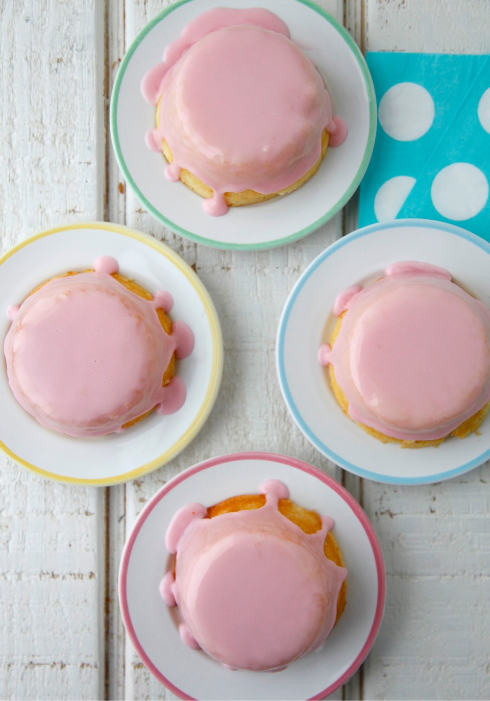 Meyer Lemon Tea Cakes with Pomegranate Glaze from Weelicious