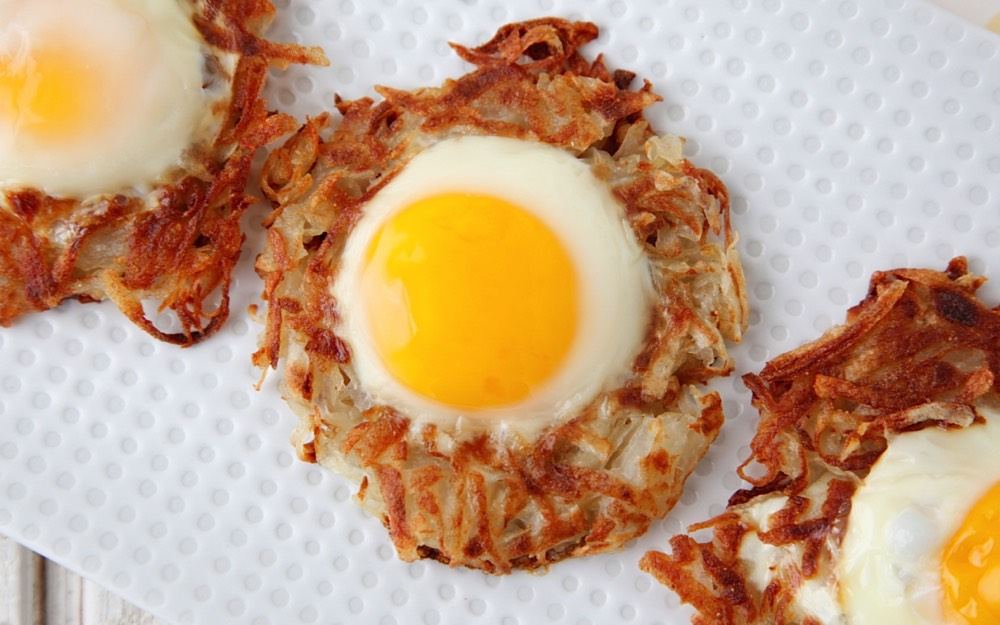Egg and Crispy Potato Nests | Weelicious