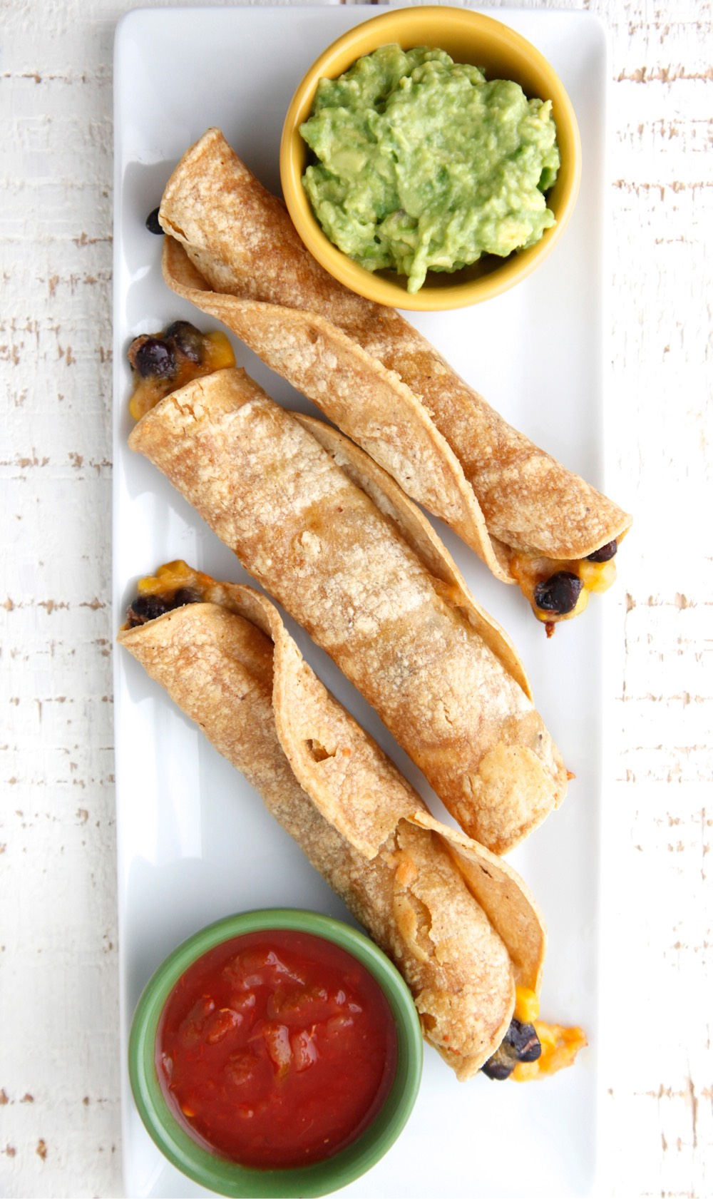 Vegetarian Baked Taquitos from Weelicious