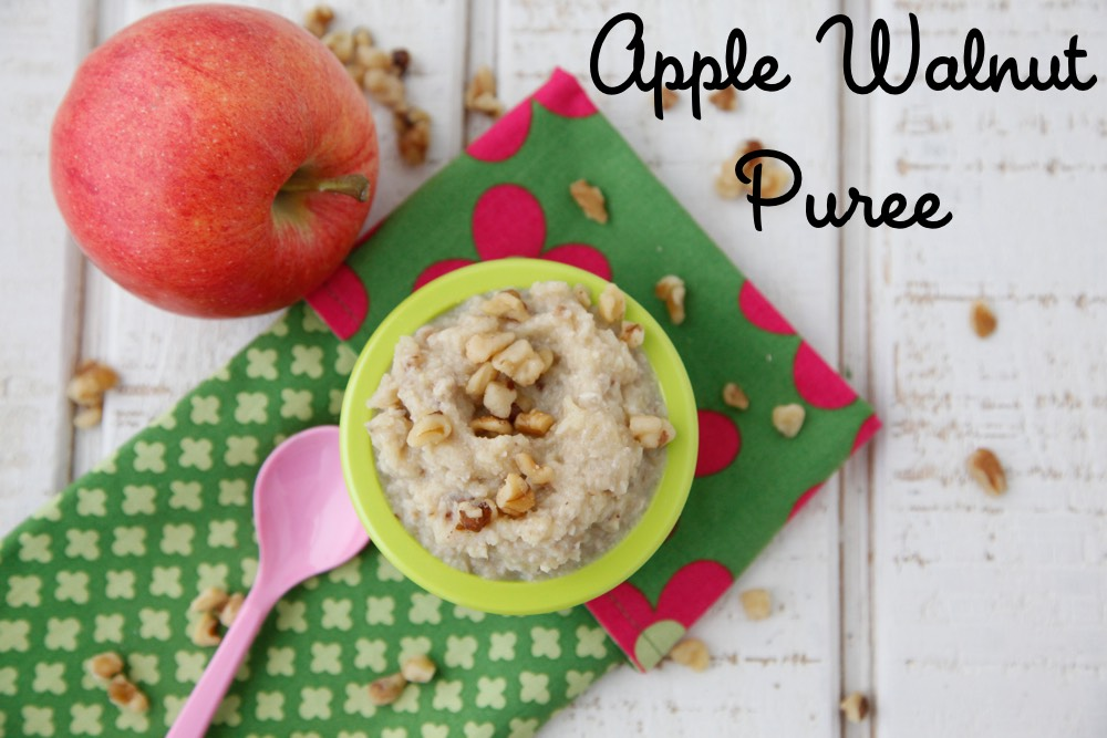 Homemade Apple Walnut Baby Food from Weelicious