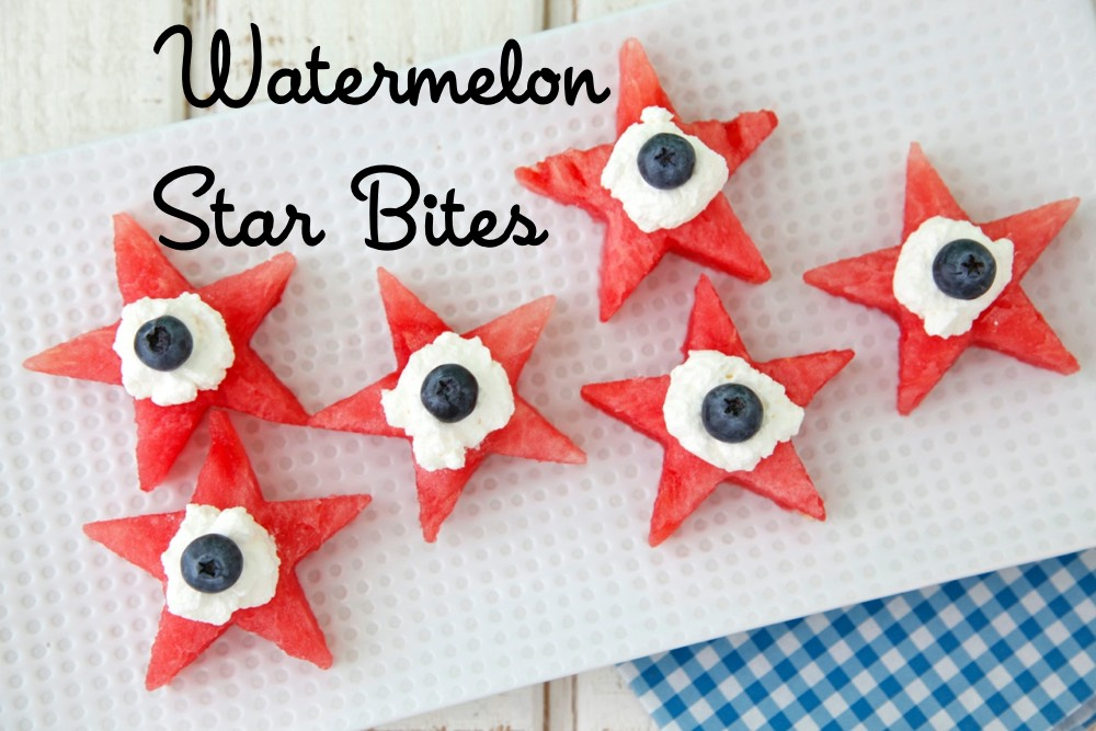 Watermelon Star Bites from Weelicious