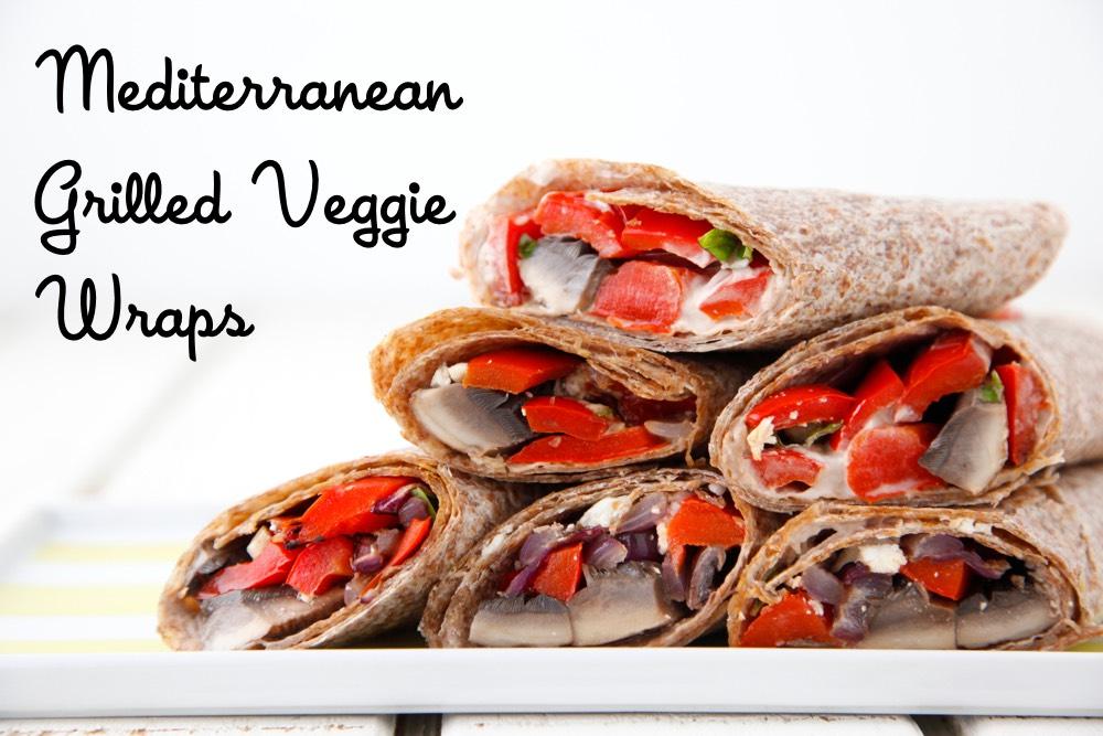 Mediterranean Grilled Veggie Wraps from Weelicious