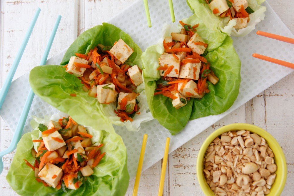 Vegetarian Lettuce Wraps from Weelicious