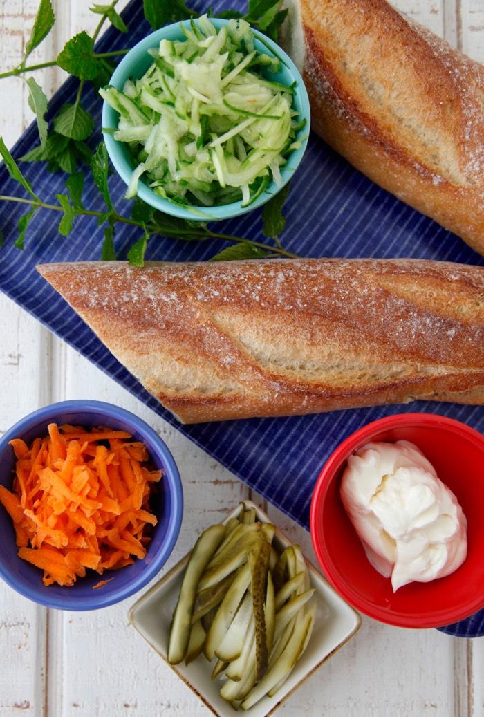 Pork Banh Mi Sammies from Weelicious