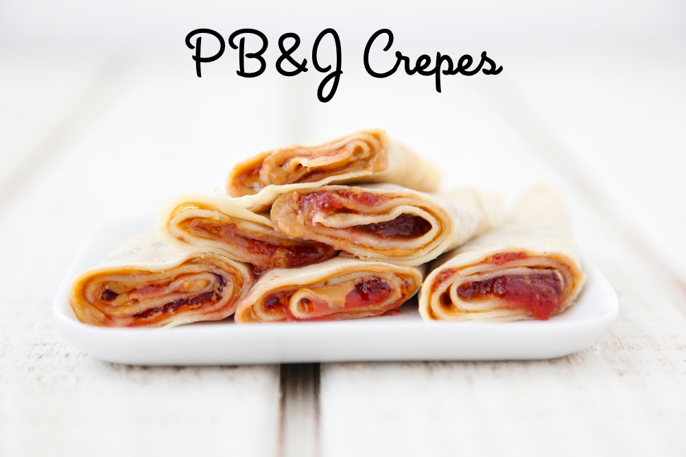 Peanut Butter and Jelly Crepes from Weelicious
