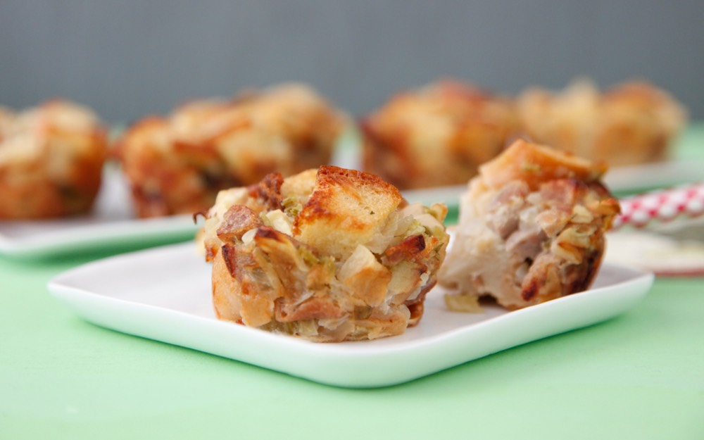Apple Sausage Stuffing Bites video from Weelicious