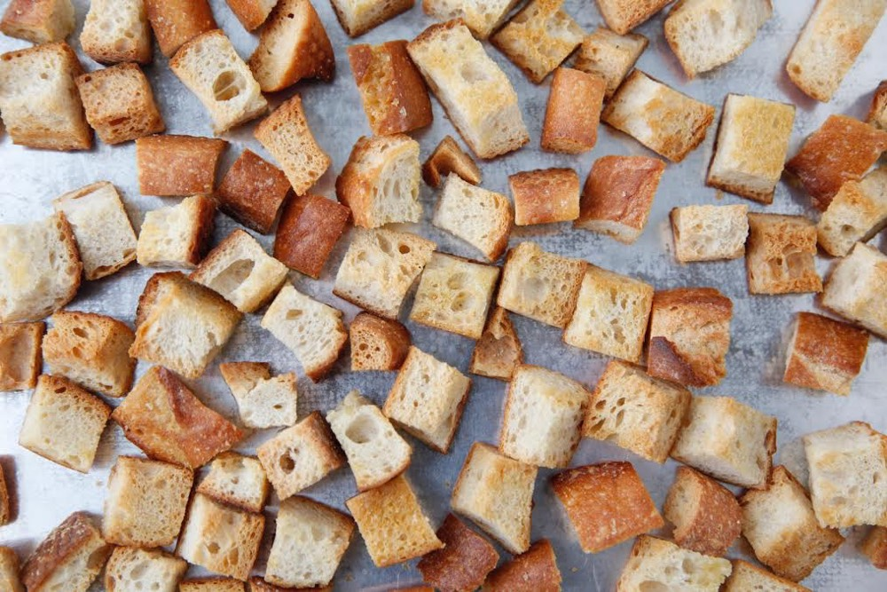 Croutons from Weelicious