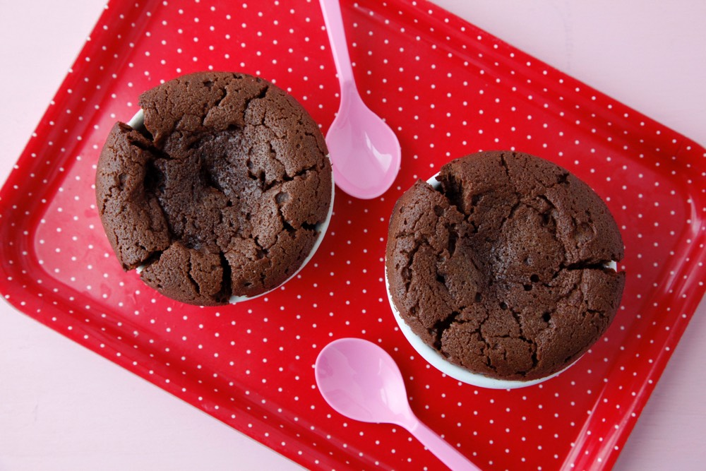 Chocolate Molten Lava Cakes from Weelicious