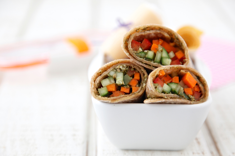 Vegetarian Pesto Wraps from Weelicious