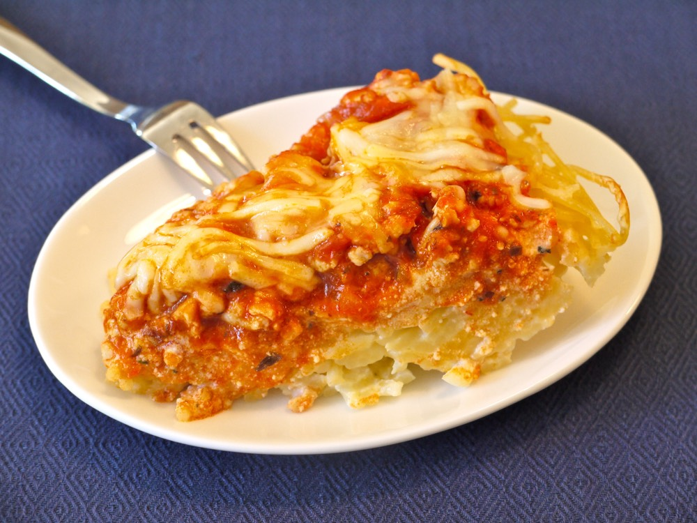 Spaghetti Pie from Weelicious