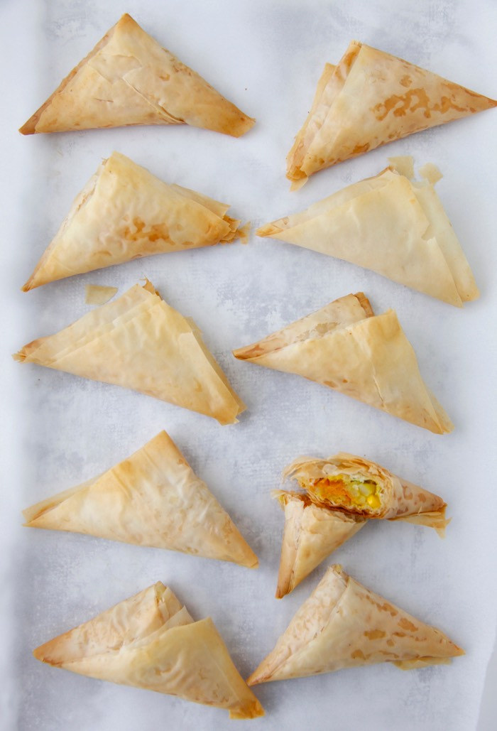 Vegetarian Baked Samosas from weelicious.com