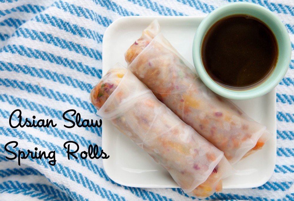 Asian Slaw Spring Rolls from weelicious.com