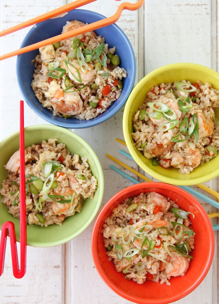 Shrimp Un-Fried Rice video from weelicious.com